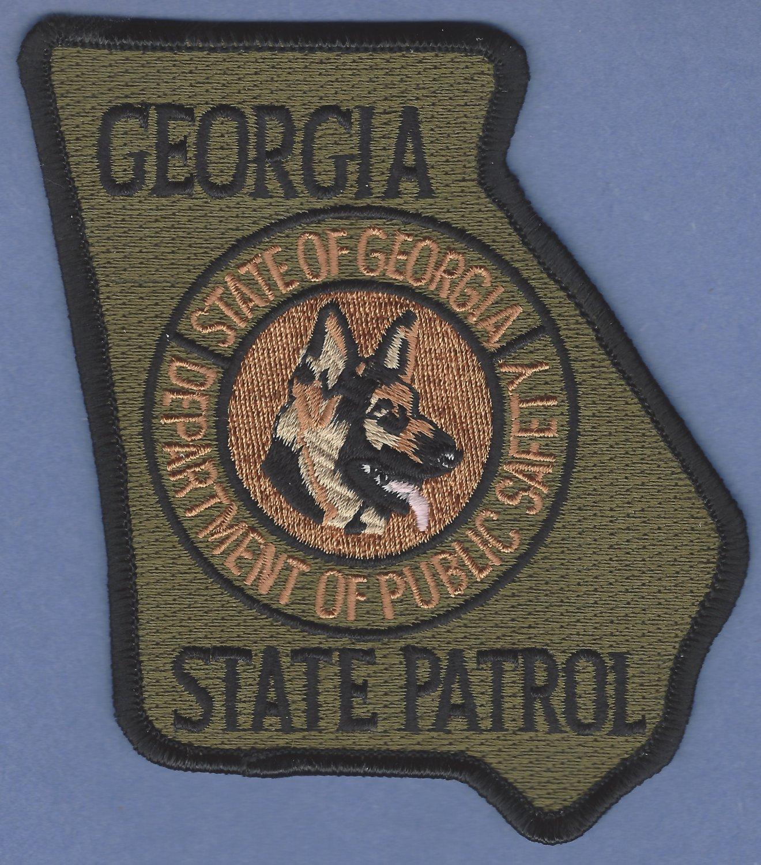 Georgia State Patrol K-9 Unit Patch Green