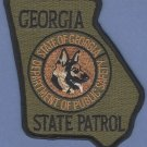 Georgia State Patrol K-9 Unit Patch Green