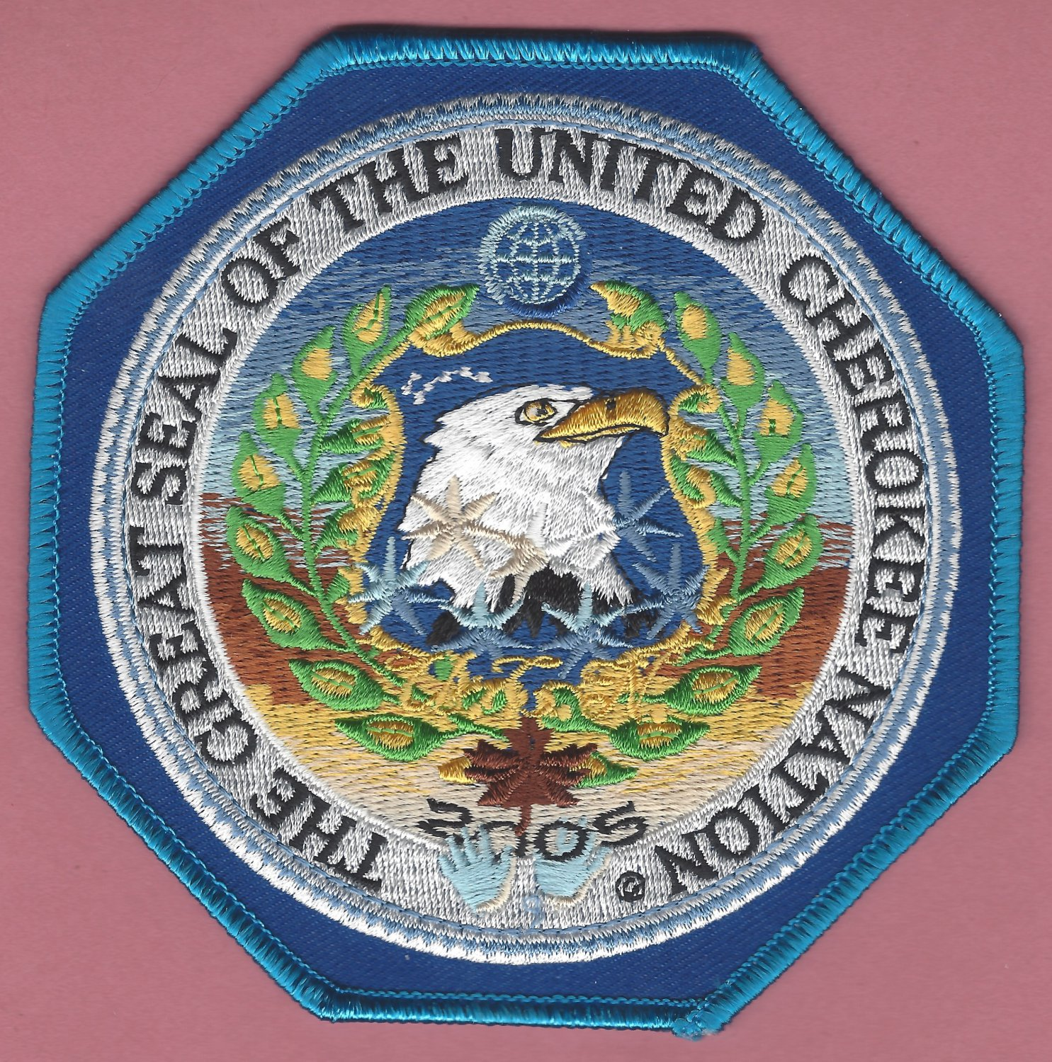 The Great Seal of the United Cherokee Nation Tribal Patch