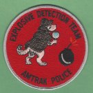 Amtrak Police Explosive Detection Team Patch