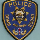Southern Pacific Lines Railroad Police Bomb Squad Patch