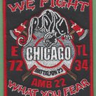 Chicago Fire Department Engine 72 Tower Ladder 34 Fire Company Patch