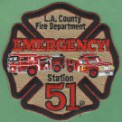 Los Angeles County Fire Department Engine 51 Squad 51 Company Patch