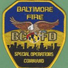 Baltimore City Fire Department Special Operations Command Patch
