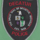 Decatur Michigan Police Patch