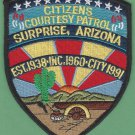Surprise Arizona Police Citizens Courtesy Patrol Patch
