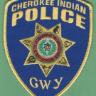 Cherokee Indian Police North Carolina Patch