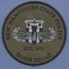 New Hampshire State Police Bomb Squad Patch
