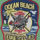 Ocean Beach Fire Company 3 New Jersey Fire Patch