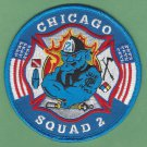 Chicago Fire Department Squad Company 2 Fire Patch NEW