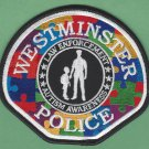 Westminster California Police Autism Awareness Patch