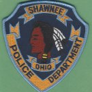Shawnee Ohio Police Patch