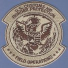 U.S. Customs & Border Protection Field Operations Patch Tan