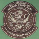 U.S. Customs & Border Protection Field Operations Patch Brown
