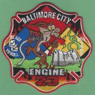Baltimore City Fire Department Engine Company 23 Fire Patch