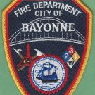 Bayonne New Jersey Fire Patch