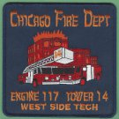 Chicago Fire Department Engine 117 Tower Ladder 14 Fire Company Patch