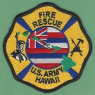 United States Army Hawaii Federal Fire Rescue Patch