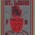 St. Louis Fire Department Truck Company 27 Patch