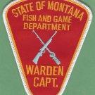 Montana Fish & Game Department Enforcement Warden Captain Patch