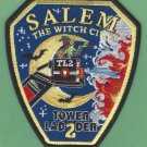 Salem Massachusetts Tower Ladder Company 2 Fire Patch Witch City