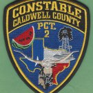 Caldwell County Texas 2nd Precinct Constable Patch