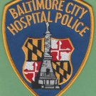 Baltimore City Hospital Maryland Police Patch