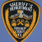 Greenup County Sheriff Kentucky Police Patch
