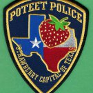 Poteet Texas Police Patch Strawberry Capital
