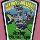 Dunsmuir California Fire Rescue Patch Locomotive