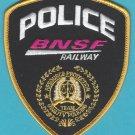 Burlington Northern Santa Fe Railroad Police Patch