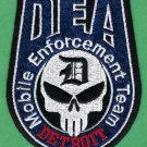 DEA Detroit Michigan Mobile Enforcement Team Police Patch