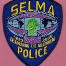 Selma California Police Patch Raisin Capital