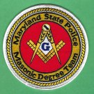 Maryland State Police Masonic Lodge Patch
