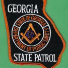 Georgia State Patrol Masonic Lodge Patch
