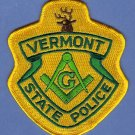 Vermont State Police Masonic Lodge Patch