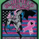Bluefield Virginia Police Pink Ribbon Patch