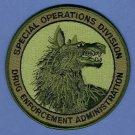 DEA Drug Enforcement Administration Special Operations Division Patch