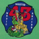 Houston Fire Department Station 43 Patch