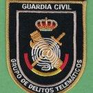 Spain Guardia Civil GDT Grupo de Delitos Telematicos Police Patch