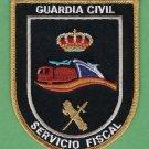 Spain Guardia Civil Servicio Fiscal Police Customs & Revenue Patch
