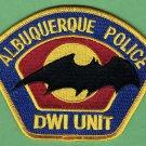 Albuquerque New Mexico Police DWI Traffic Unit Patch