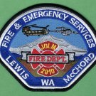 Lewis McChord Joint Military Base Washington Fire Rescue Patch