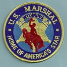 United States Marshal Wyoming Police Patch
