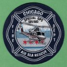 Chicago Fire Department Air Sea Rescue Helicopter Patch