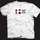 """""""I bought this shirt with your money"""" funny poker gambling t-shirt.  Size M"""