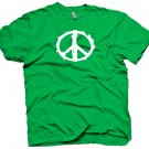 Grunge looking peace sign t-shirt.  Size L