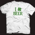 I Love Beer t-shirt, funny cool irish drinking shirt.  Size L