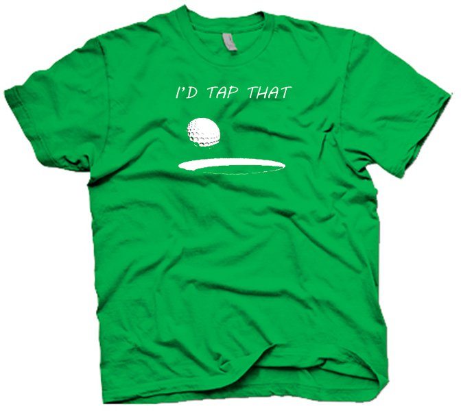 I'de Tap That golf ball t-shirt.  Funny golf humor.  Size S