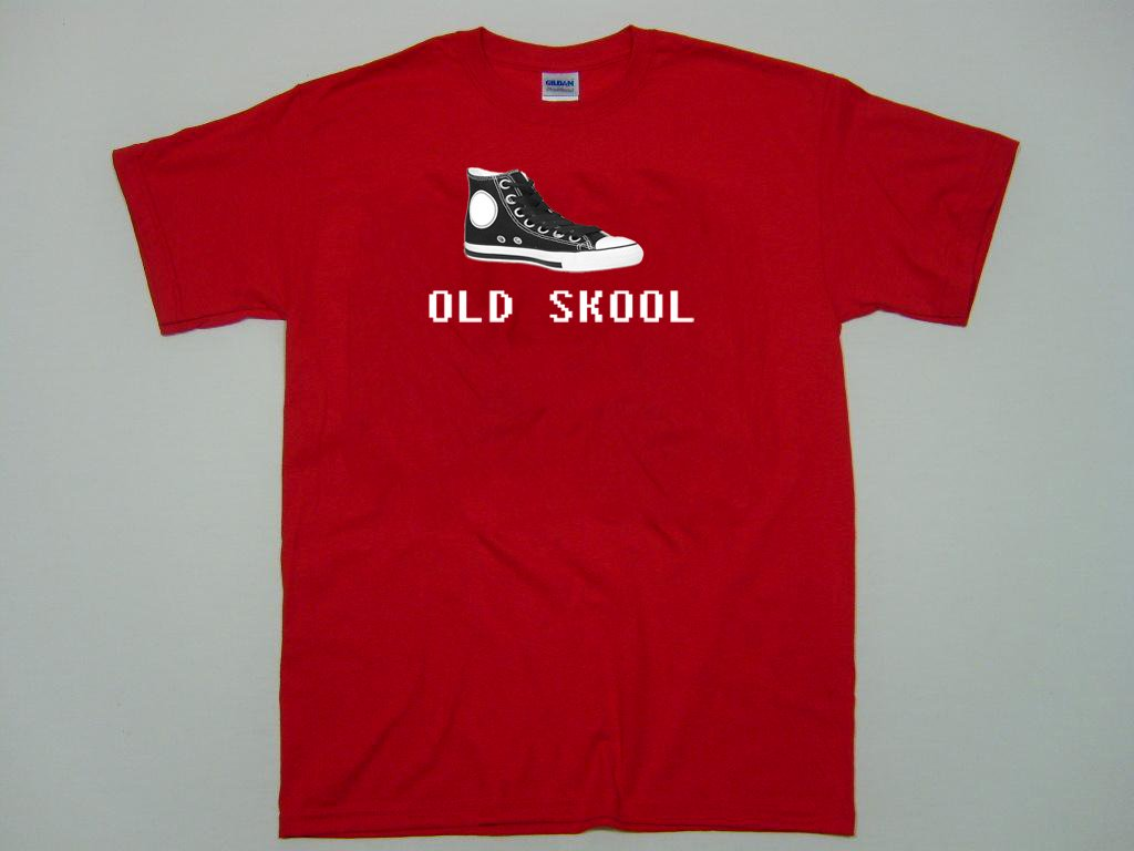 Old Skool High Top Sneaker t-shirt.  Back in the day Basketball.   Size S